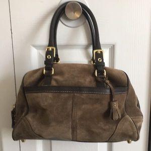 Coach Hamptons Suede/Leather Satchel
